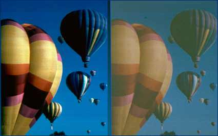 Color blindness – hot air balloon